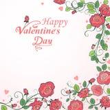 Fondo del día del ` s de la tarjeta del día de San Valentín Fotografía de archivo