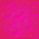 Fondo del día del ` s de la tarjeta del día de San Valentín Foto de archivo