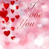Fondo del día del `s de la tarjeta del día de San Valentín con los corazones ilustración del vector