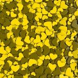 Fondo del día del ` s de la tarjeta del día de San Valentín Corazones de color verde amarillo del grupo Fotografía de archivo libre de regalías