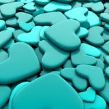 Fondo del día del ` s de la tarjeta del día de San Valentín Corazones del azul del grupo Imagen de archivo libre de regalías