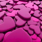 Fondo del día del ` s de la tarjeta del día de San Valentín Corazones rosados del grupo Imagenes de archivo