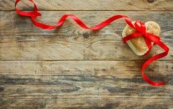 Fondo del día del ` s de la tarjeta del día de San Valentín, galletas, corazón de la forma Foto de archivo libre de regalías