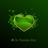 Fondo del día del St. Patrick en colores verdes Fotografía de archivo