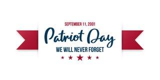 9/11 fondo del día del patriota Stock de ilustración