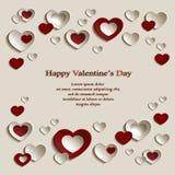 Fondo del día del ` s de la tarjeta del día de San Valentín Imagen de archivo libre de regalías