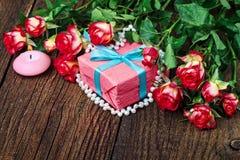 Fondo del día del ` s de la tarjeta del día de San Valentín Imagenes de archivo