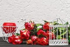 Fondo del día del ` s de la tarjeta del día de San Valentín Foto de archivo libre de regalías