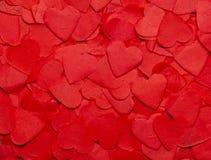 Fondo del día del `s de la tarjeta del día de San Valentín con los corazones Imágenes de archivo libres de regalías
