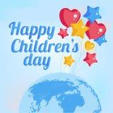 Fondo del día del ` s de los niños de la impresión Foto de archivo