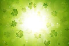 Fondo del día del ` s de St Patrick del trébol fotografía de archivo