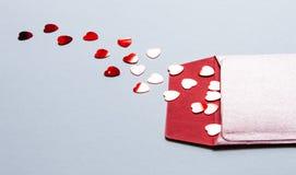 Fondo del d?a del ` s de la tarjeta del d?a de San Valent?n fotos de archivo