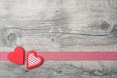 Fondo del día de tarjetas del día de San Valentín Foto de archivo libre de regalías