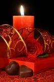 Fondo del día de tarjetas del día de San Valentín, aún vida Foto de archivo libre de regalías