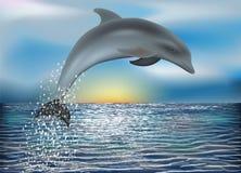 Fondo del delfino Vettore Fotografia Stock Libera da Diritti