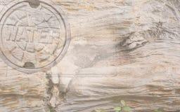 Fondo del ` dell'acqua del ` con grano di legno Fotografia Stock Libera da Diritti