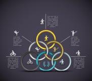 Fondo del deporte de Infographic Fotografía de archivo