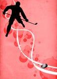 Fondo del deporte del hockey sobre hielo Fotografía de archivo