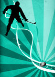 Fondo del deporte del hockey sobre hielo Foto de archivo