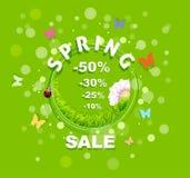 Fondo del descuento de la venta de la primavera Imágenes de archivo libres de regalías