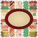 Fondo del desecho con un marco oval. stock de ilustración