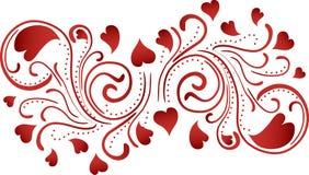 Fondo del desfile del corazón Fotografía de archivo