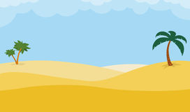 Fondo del desierto con las palmeras ilustración del vector