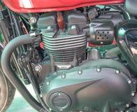 Fondo del dettaglio del primo piano del motore della motocicletta Fotografia Stock
