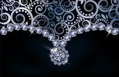 Fondo del diamante Immagine Stock Libera da Diritti