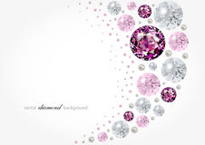Fondo del diamante Fotos de archivo libres de regalías