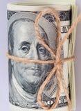 Fondo del dinero (cercano para arriba de billete de dólar) Foto de archivo libre de regalías