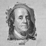 Fondo del dinero (cercano para arriba de billete de dólar) Imagen de archivo
