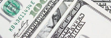 Fondo del dinero (cercano para arriba de billete de dólar) Fotografía de archivo libre de regalías