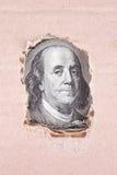 Fondo del dinero (cercano para arriba de billete de dólar) Fotografía de archivo