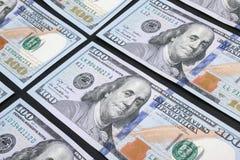 Fondo del dinero (cercano para arriba de billete de dólar) Fotos de archivo