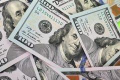 Fondo del dinero (cercano para arriba de billete de dólar) Imagenes de archivo