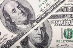 Fondo del dinero (cercano para arriba de billete de dólar) Imagen de archivo libre de regalías