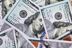 Fondo del dinero (cercano para arriba de billete de dólar) Imágenes de archivo libres de regalías