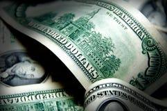 Fondo del dinero de cientos dólares Imágenes de archivo libres de regalías