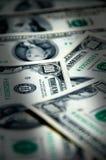 Fondo del dinero de cientos dólares Foto de archivo