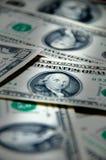 Fondo del dinero de cientos dólares Fotografía de archivo