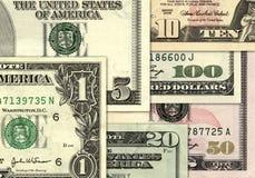 Fondo del dinero de dólar americano Imágenes de archivo libres de regalías