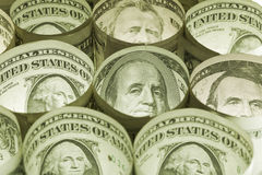 Fondo del dinero de las cuentas de dólar Foto de archivo