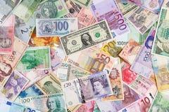 Fondo del dinero en circulación Imagen de archivo