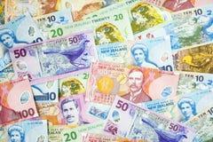 Fondo del dinero en circulación de Nueva Zelandia Fotografía de archivo libre de regalías