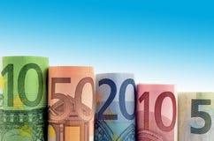 Fondo del dinero euro Imágenes de archivo libres de regalías