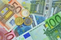 Fondo del dinero euro Imagen de archivo