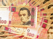 Fondo del dinero ucraniano Fotos de archivo libres de regalías
