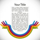 Fondo del diseño con las manos pintadas arco iris libre illustration