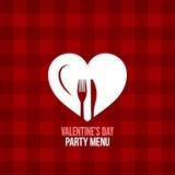fondo del diseño de la bebida de la comida del menú del día de tarjetas del día de San Valentín Imagen de archivo